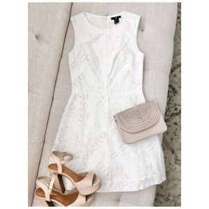 H&M Short White Lace Dress